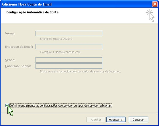 Configurando Outlook 2007 - Etapa 3