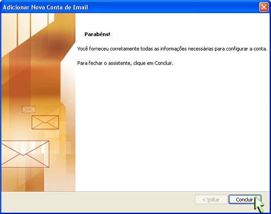Configurando Outlook 2007 - Etapa 8
