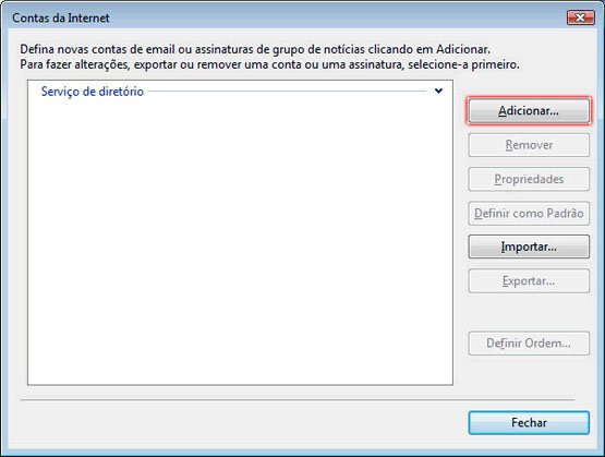 Configurando Windows Mail - Etapa 2