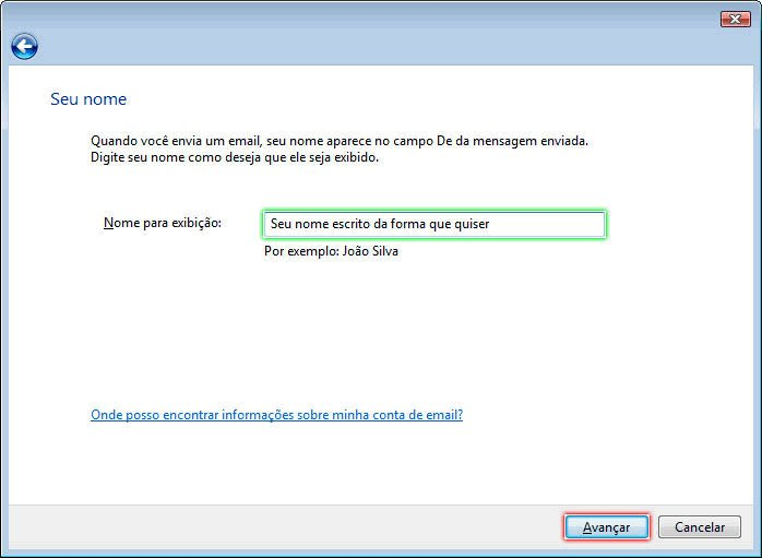 Configurando Windows Mail - Etapa 4