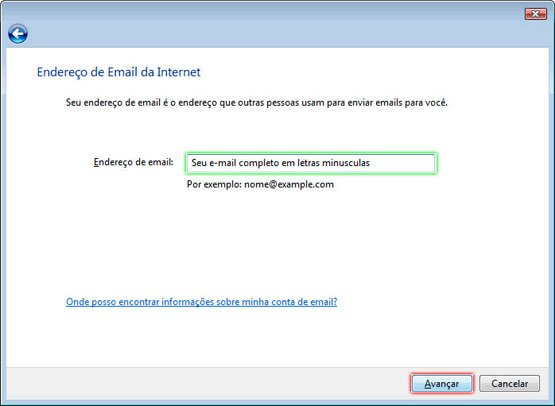 Configurando Windows Mail - Etapa 5