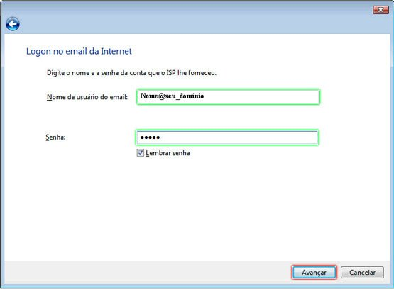 Configurando Windows Mail - Etapa 7