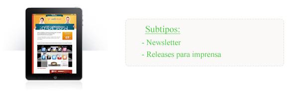 Tipos de e-mail marketing I