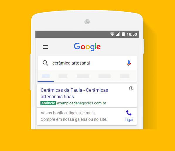 Anúncios de Texto da Rede de Pesquisa do Google.