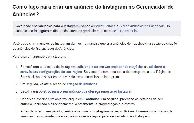 Como anunciar no Instagram?