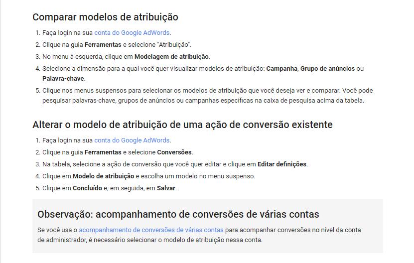 Comparando Modelos de Atribuição