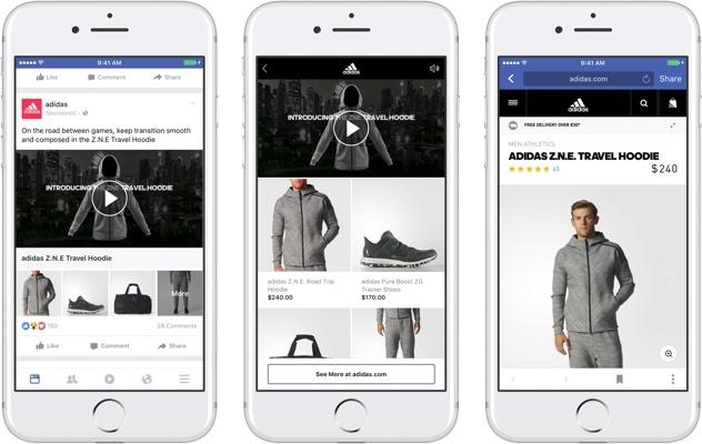 Formatos de anúncios do Facebook: Coleção