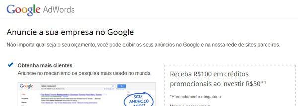 Como Ganhar um Cupom Promocional Google Adwords?