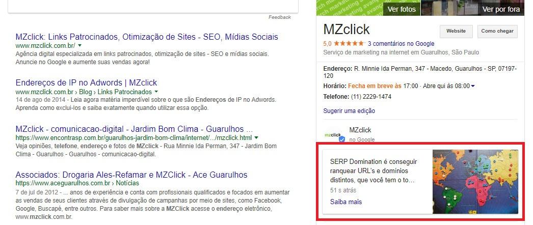 Google Post - MZclick