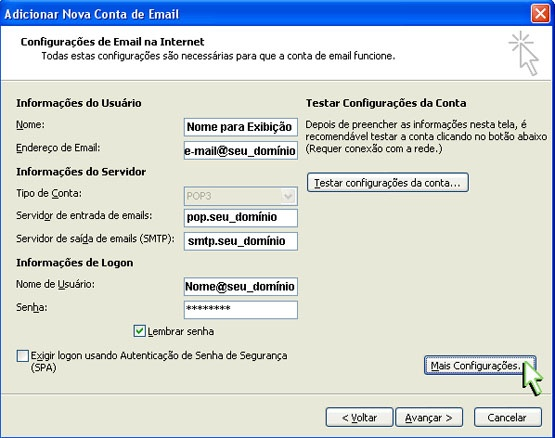 Configurar Outlook 2007- Etapa 5
