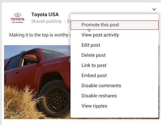Posts Patrocinados no Google+