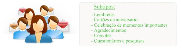 Tipos de e-mail marketing R