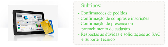 Tipos de e-mail marketing S