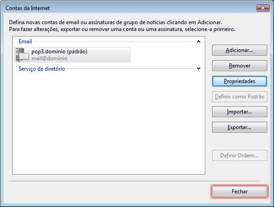 Configurando Windows Mail - Etapa 11